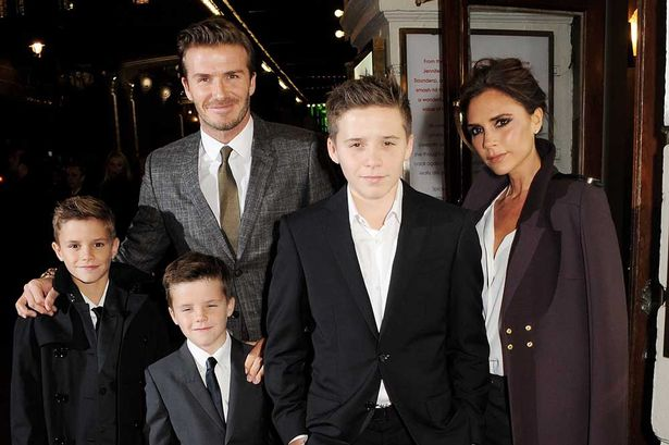 A family affair: Victoria Beckham ropes in her boys to ...