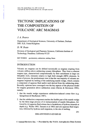 (PDF) Tectonic Implications of the Composition of Volcanic ...