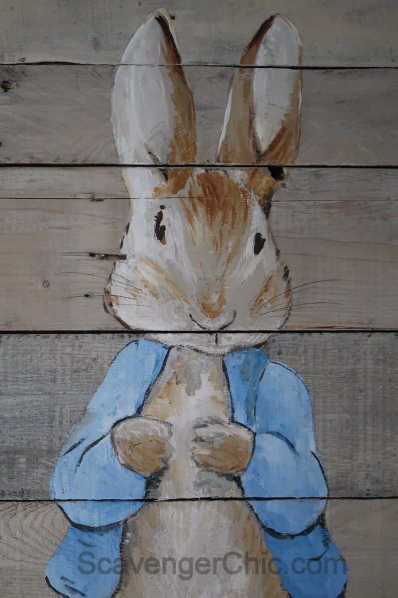 Pallet Wood Peter Rabbit In Time For Spring Scavenger Chic