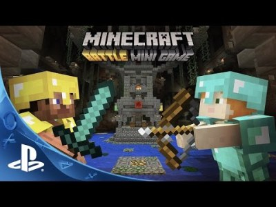 Minecraft Game   PS4   PlayStation Battle Mini Game