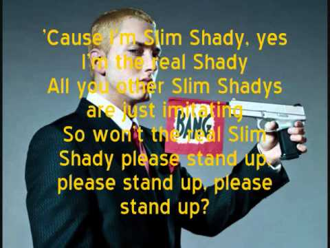 Eminem- The Real Slim Shady (Lyrics) - YouTube