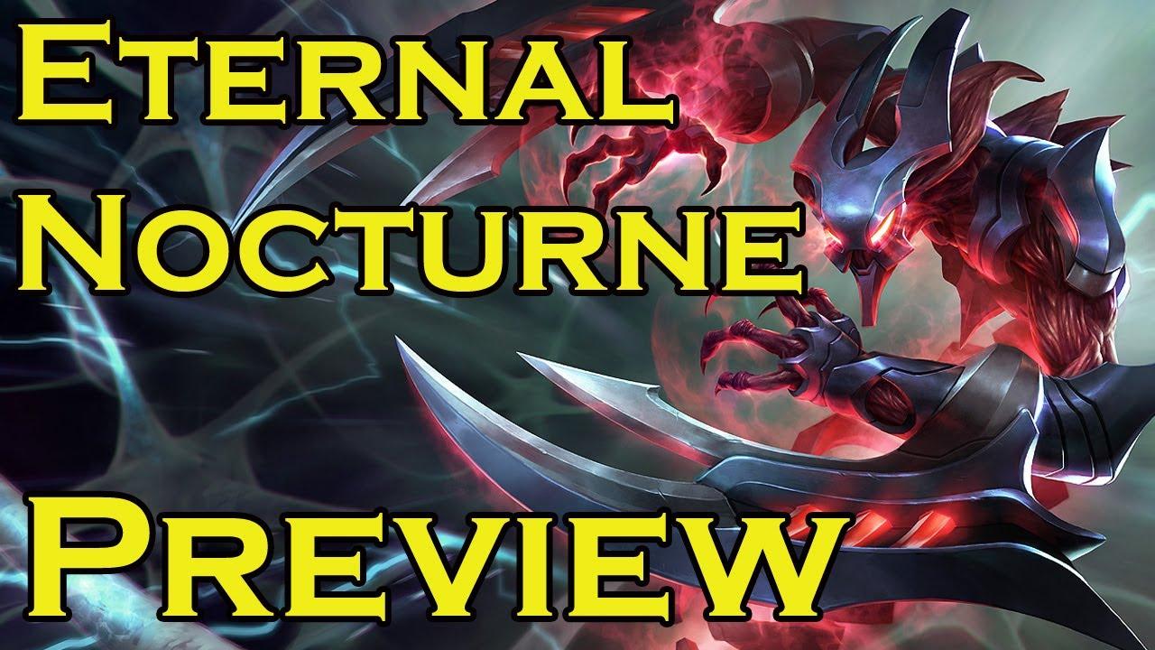 League of Legends - Eternum Nocturne Legendary Skin Spotlight Gameplay Teaser - YouTube