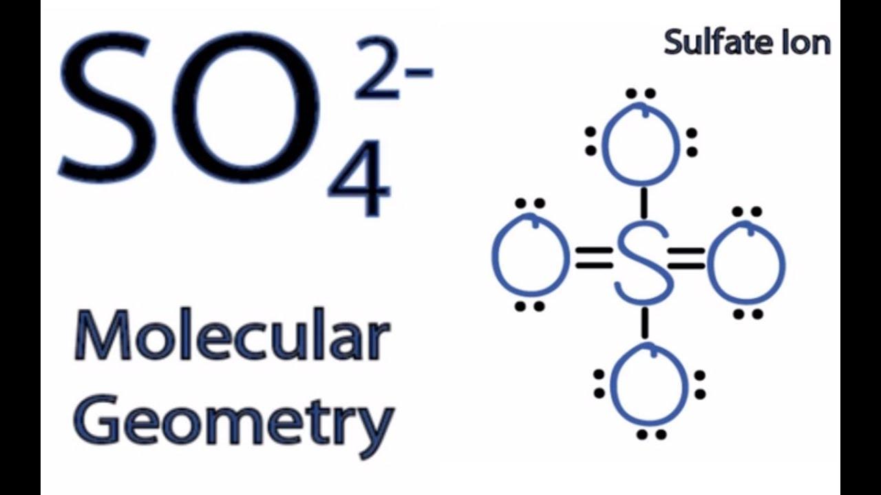 SO4 2- Molecular Geometry / Shape and Bond Angles - YouTube