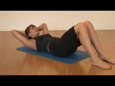 Pilates Abdominal Curl Ups Exercise Youtube