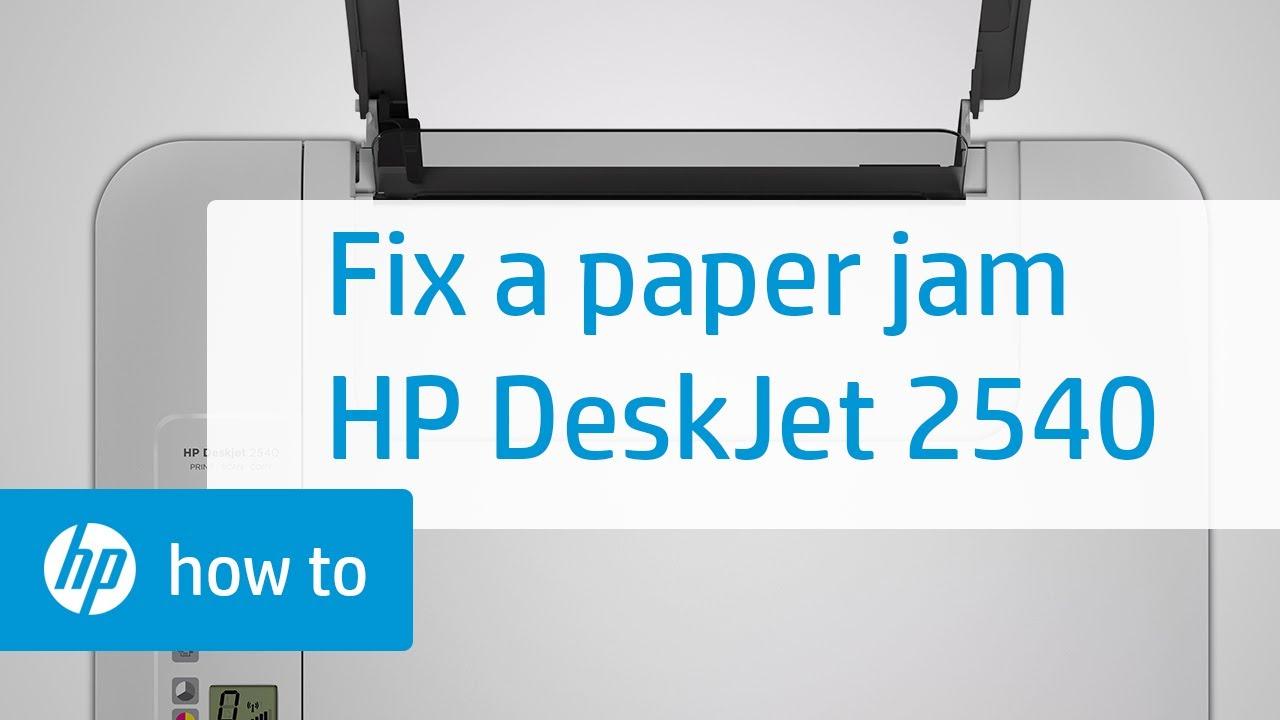 Fixing A Paper Jam Hp Deskjet 2540 All In One Printer