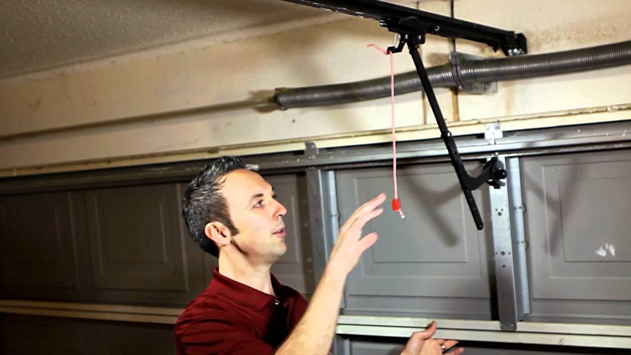 Manual Disengage For Liftmaster Sears Garage Door Opener