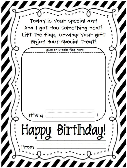Printable Color Your Own Birthday