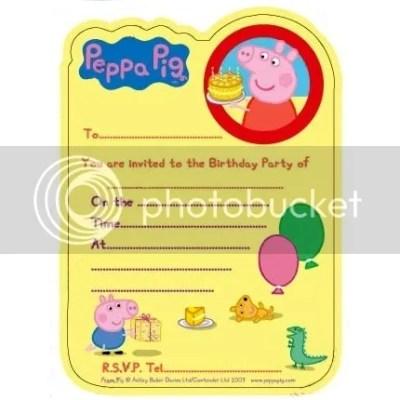 Peppa Pig Party Supplies - Invites / Invitations ...