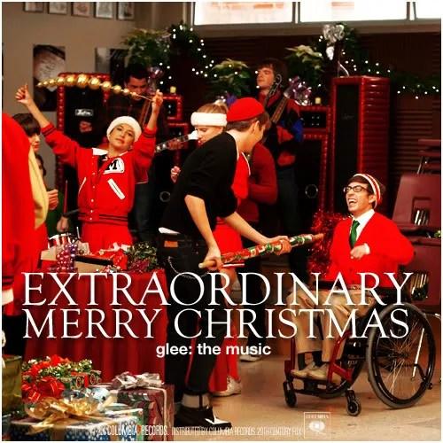 glee christmas album cover 2