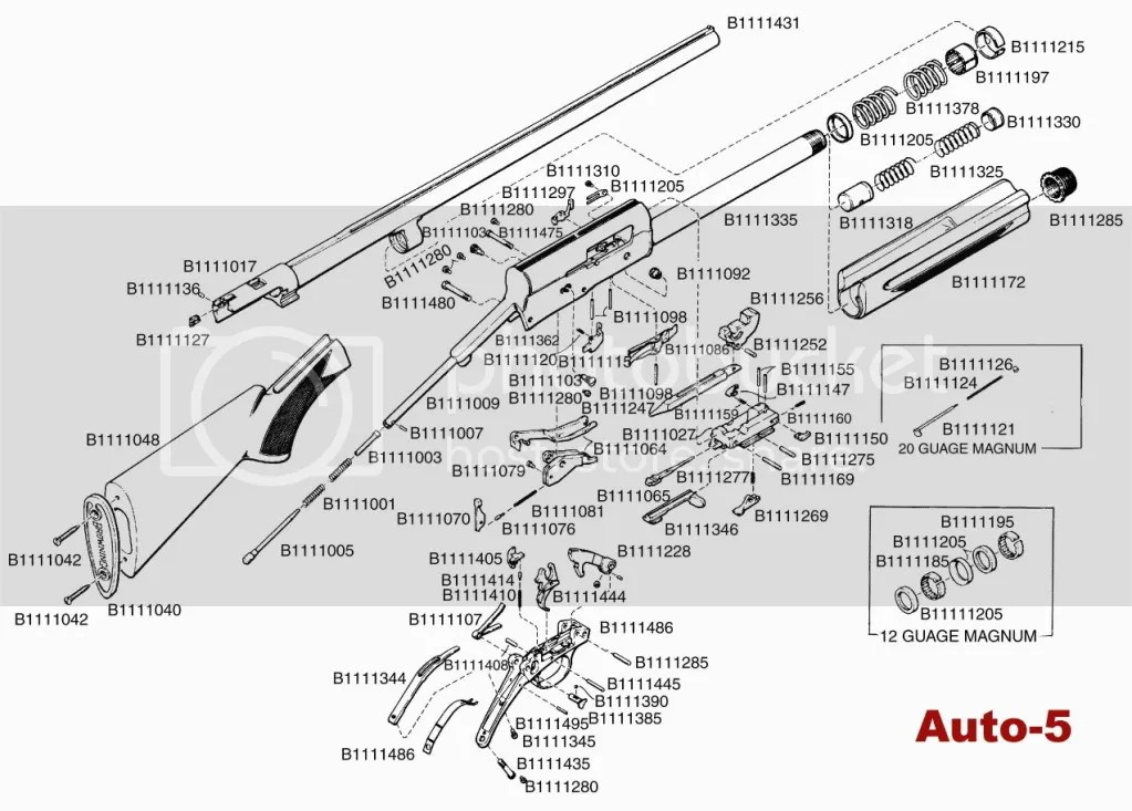 A5 Browning Schematic Parts