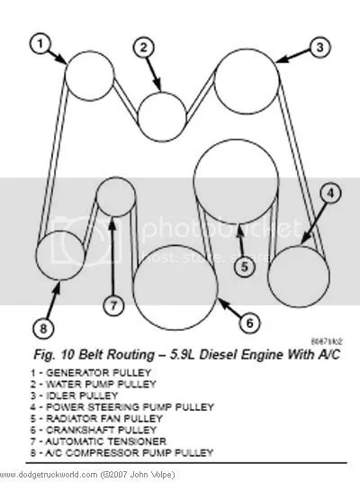 2004 Dodge Ram 3500 Serpentine Belt Diagram