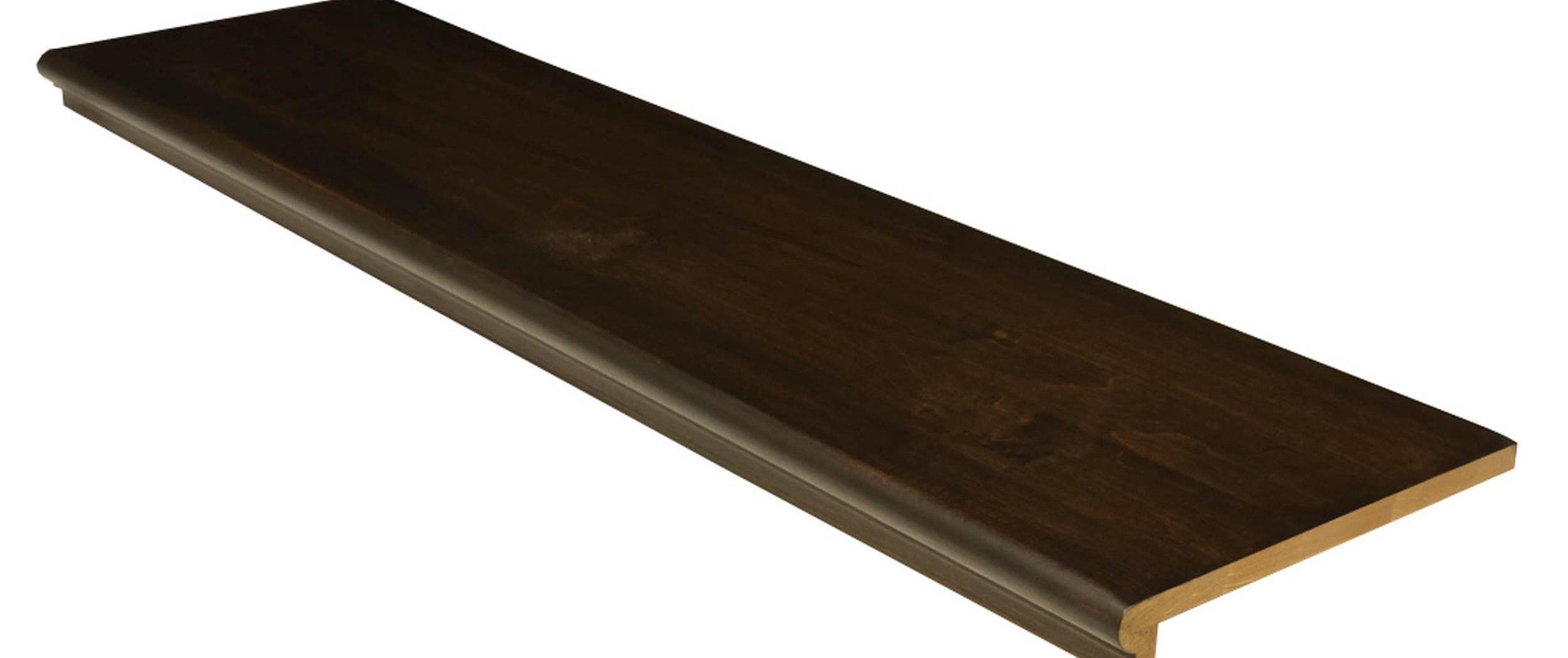 Espresso Birch Boxed Retro Tread 42In 100411214 Floor And Decor | African Mahogany Stair Treads | Handrail | Cutting Board | Plank | Oak | Mahogany Wood Stair