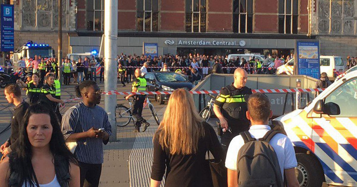 Major Incident At Amsterdam Central Train Station As Car