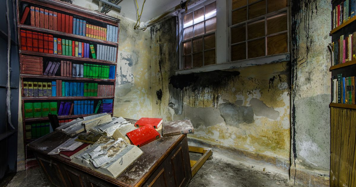 Haunting Pictures Show Inside Abandoned School Where Time
