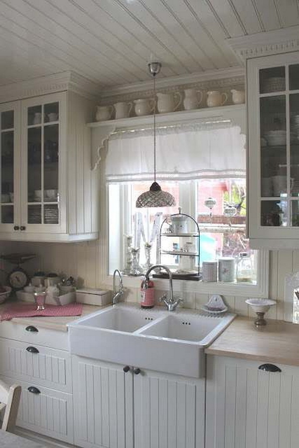 35 Awesome Shabby Chic Kitchen Designs, Accessories and ...