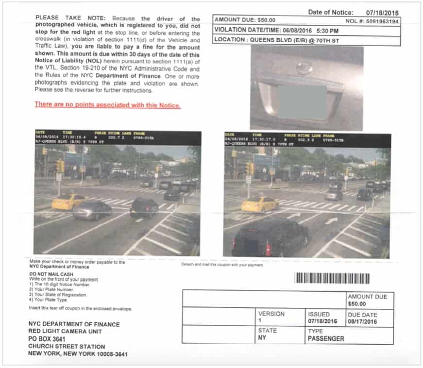 I beat a Red Light Camera Ticket