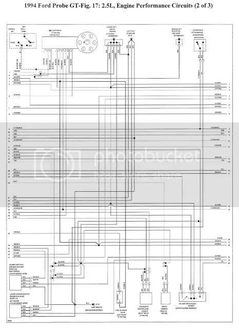 ProbeV6wiring2?resize\\\=450300 1994 ford mustang headlight wiring diagram electrical wiring diagrams