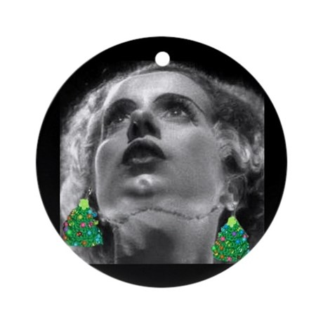 Gothic Bride of Frankenstein Xmas Ornament (Round) by ...