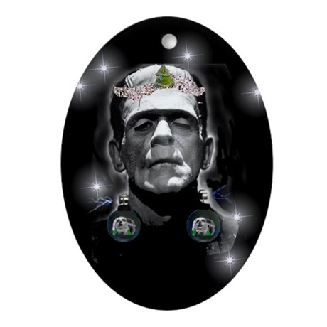 Gothic Frankenstein Oval Ornament by chanceryhouse