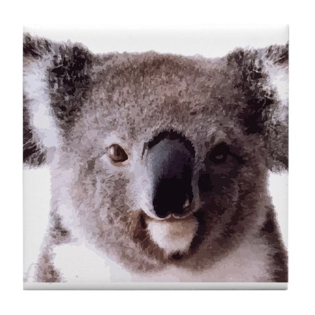 Large Happy Koala Bear Smiling Tile Coaster by Admin ...