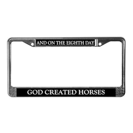 Horse Licence Plate Frame