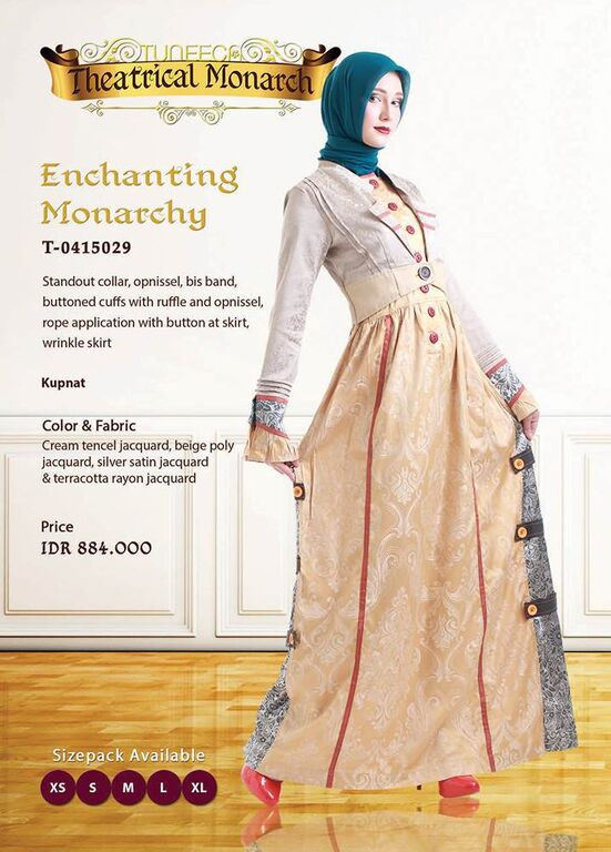 Baju Gamis Tuneeca Theatrical Monarch Part