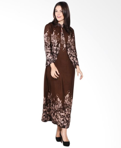 Image Result For Model Gamis Batik Kombinasi Satin Terbaru