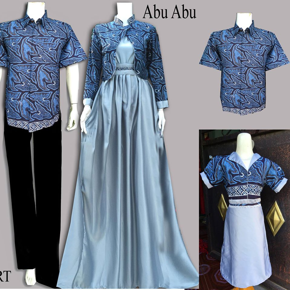 Model Baju Batik Gamis Couple 18