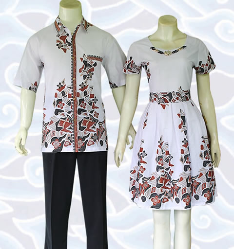 Model Baju Batik Gaun Couple 15