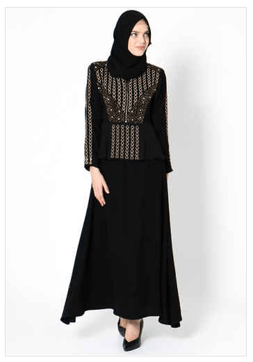 Model Baju Renda Abaya 17