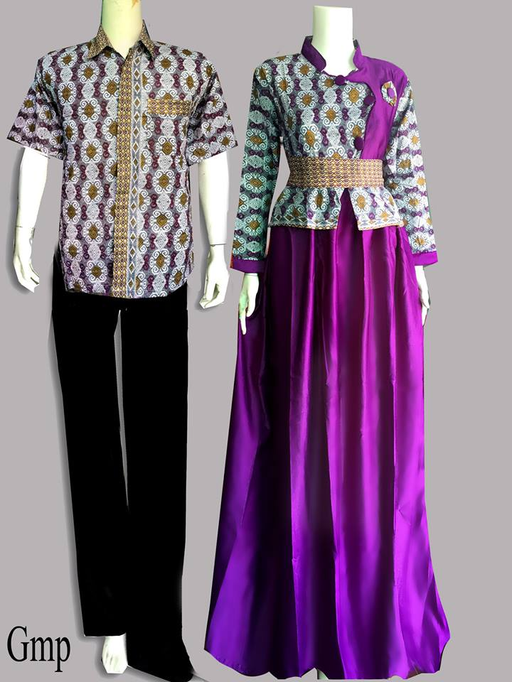 Model Gamis Batik Couple