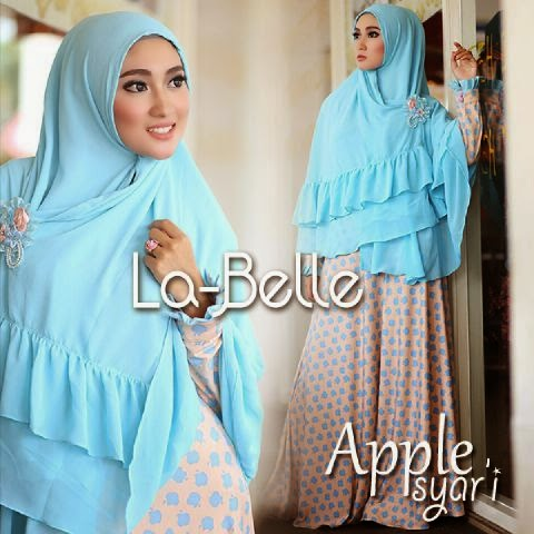 Gamis Original Branded Labelle Dan Queenara New Apple Syari By La Belle Hijab