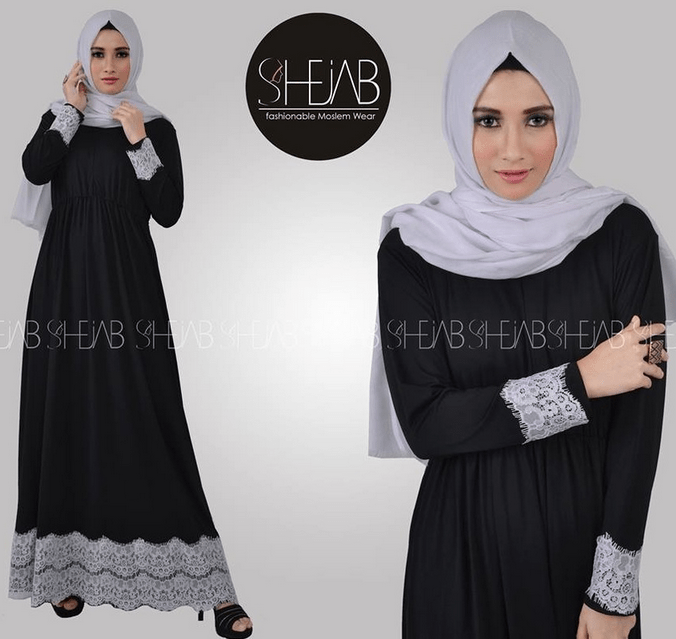 Model Baju Renda Abaya 9