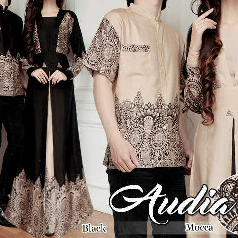 Model Baju Batik Gamis Couple 17