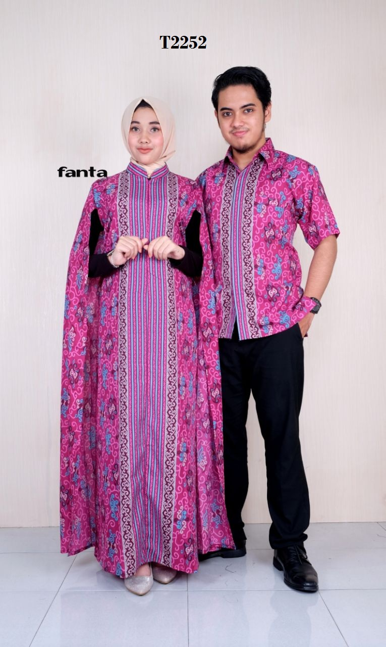 Model Gamis Batik Resleting Depan 3