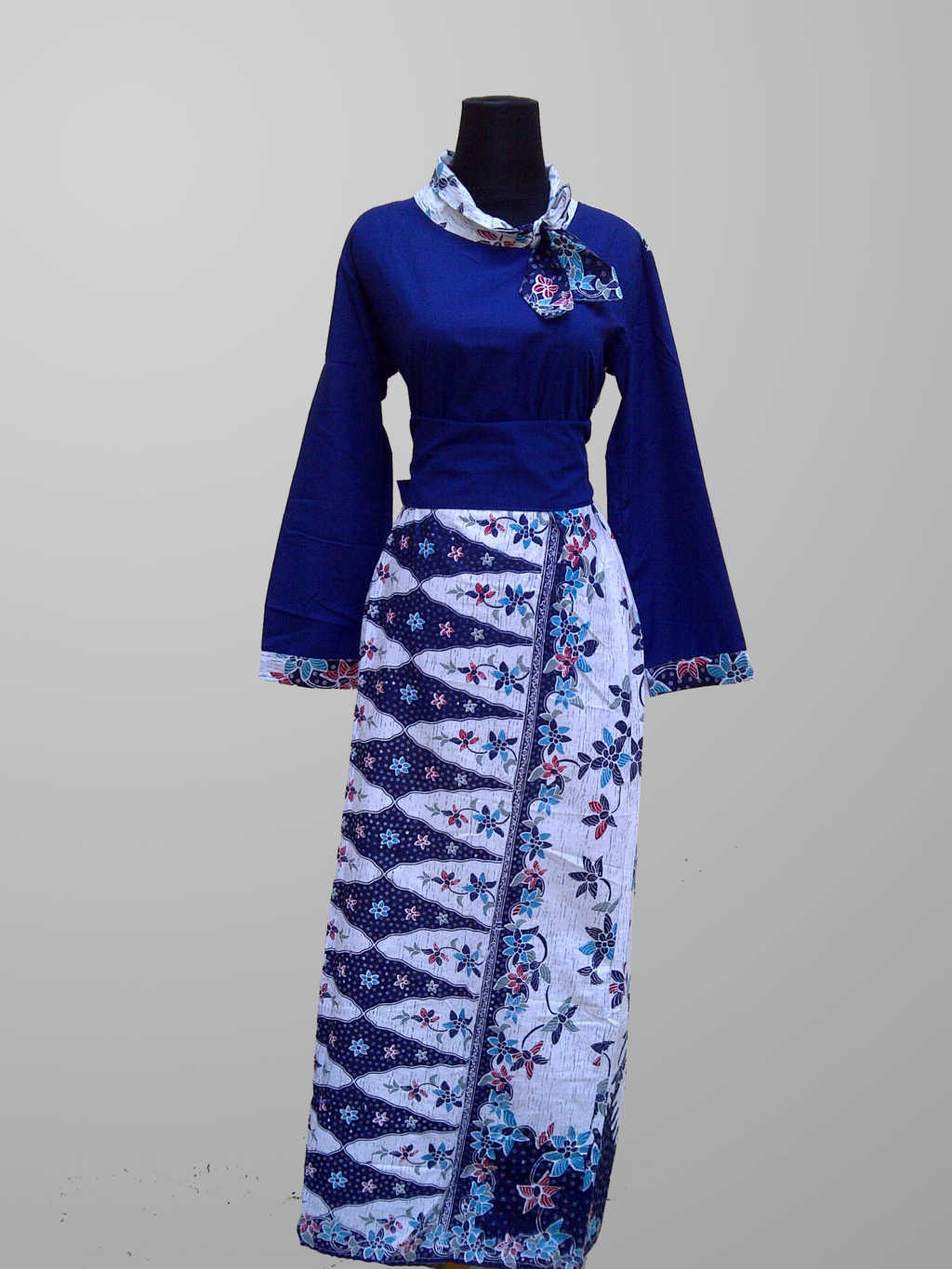 Model Baju Gamis Batik Non Formal 2
