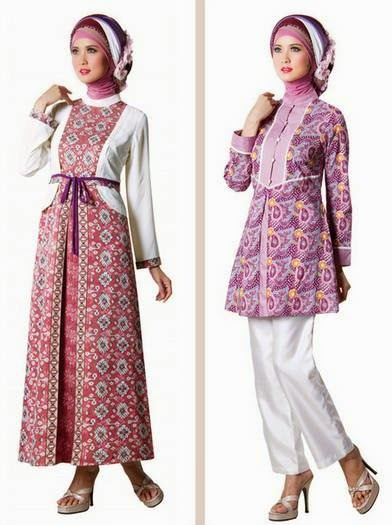 Image Result For Model Gamis Batik Anak Kombinasi Polos