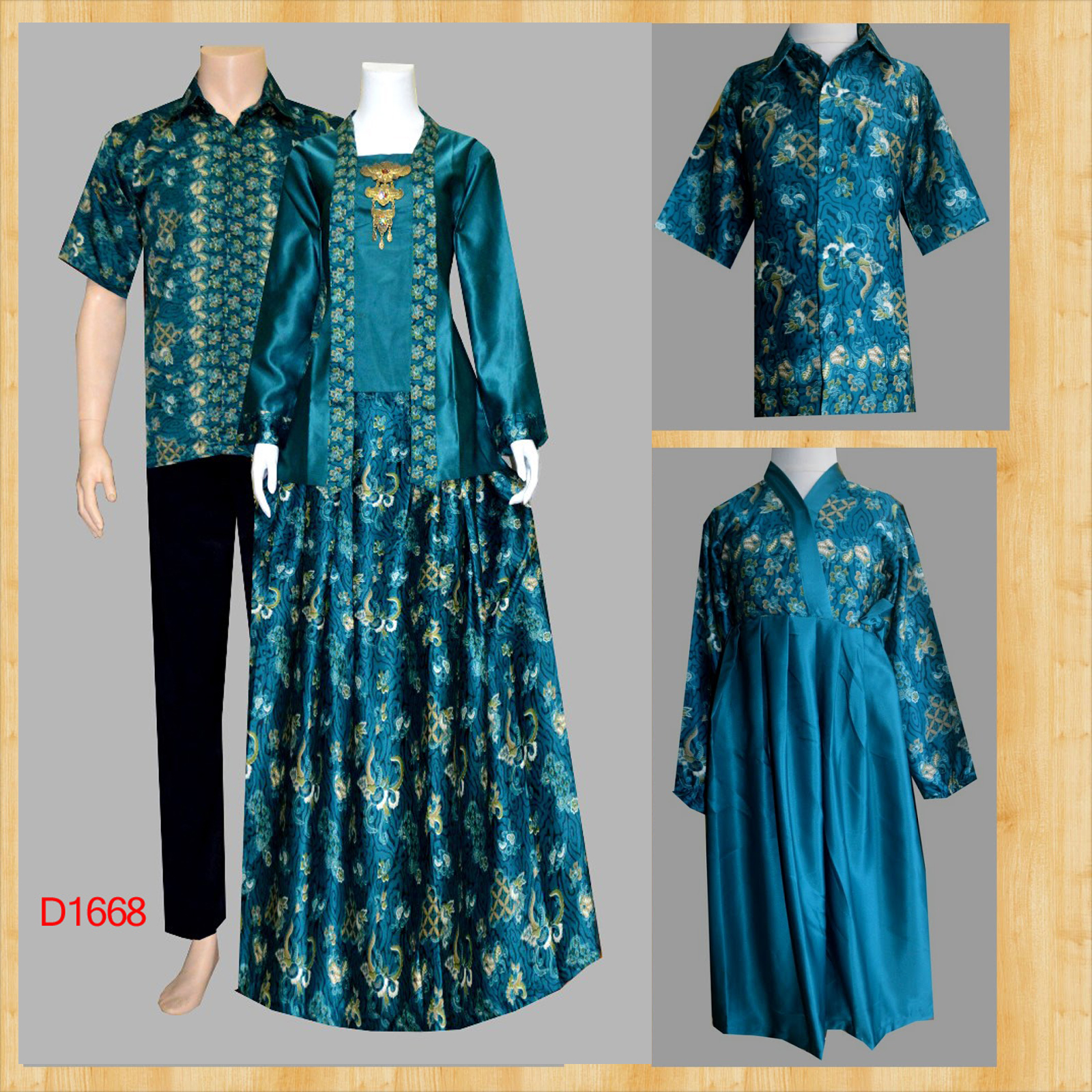 Model Baju Batik Gamis Couple 30