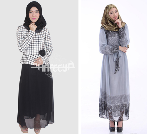 Image Result For Model Gamis Kombinasi Dua Motif