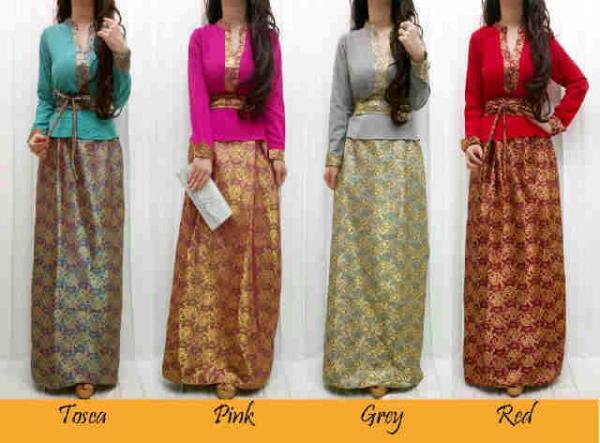 Model Gamis Songket Lombok 1