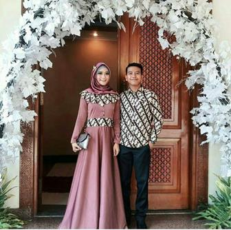Model Baju Batik Couple Kombinasi Terbaru 22