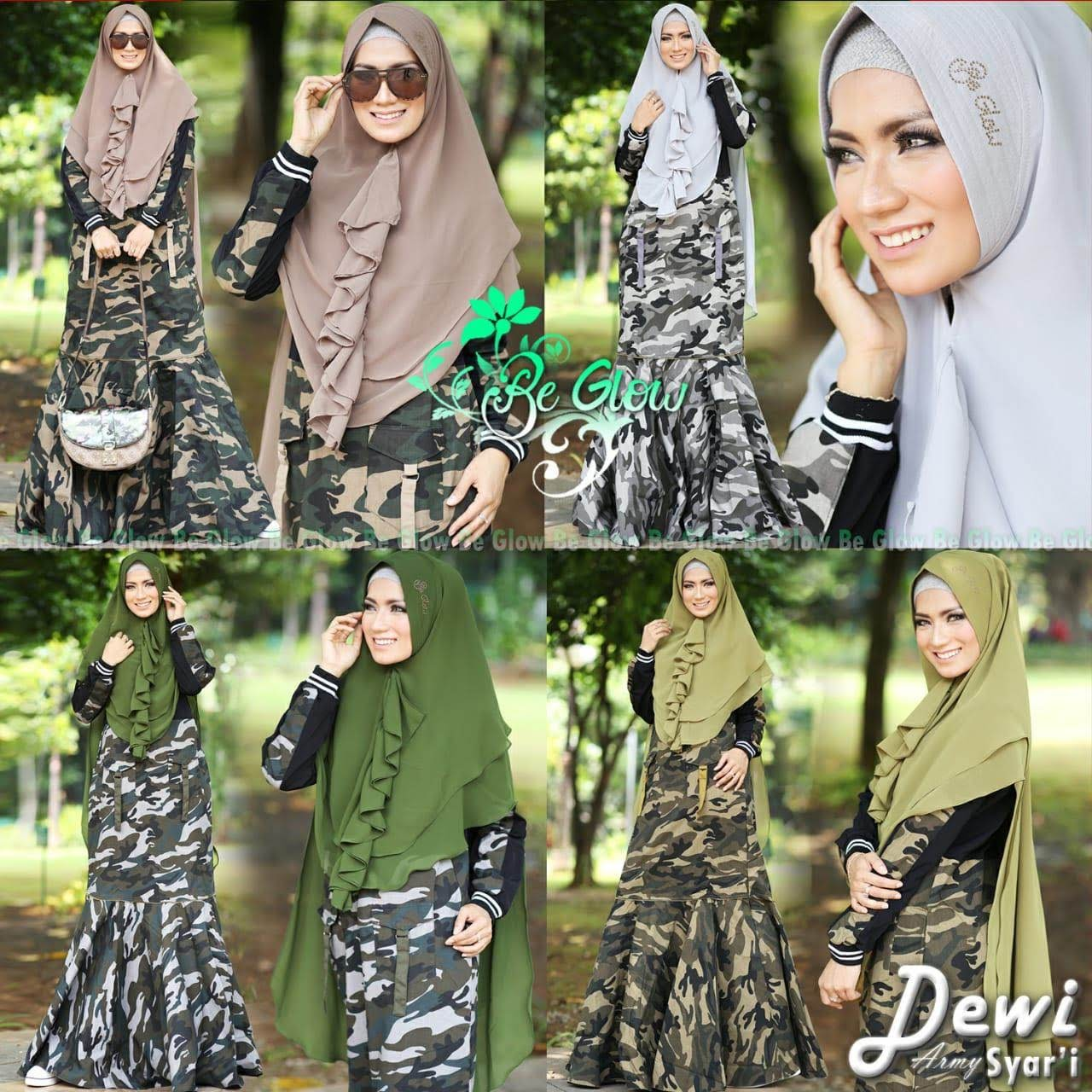 Dewi Army Syari By Be Glow