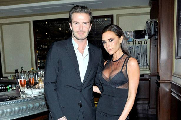 David Beckham touches wife Victoria on the bum at CFDA ...