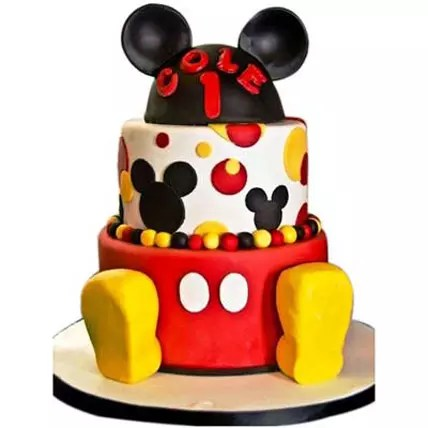 Mickey Mouse 2 Tier Cake 4kg Gift Mickey Mouse 2 Tier