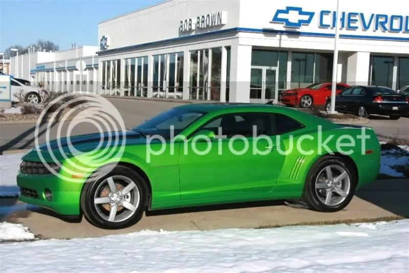 Mid Iowa Camaro Club View Topic 2010 Synergy Green Camaro