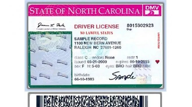 Drivers North Carolina Carolina License Drivers License 2013 2013 North