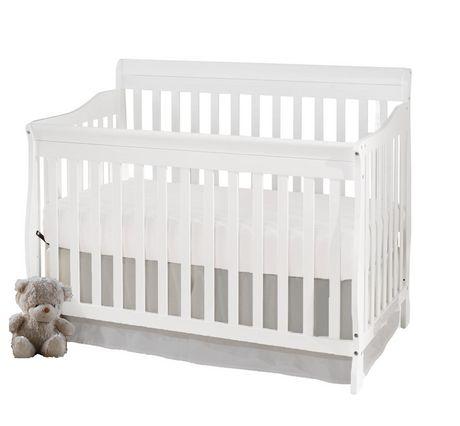Concord Baby Carson 4 In 1 White Convertible Crib