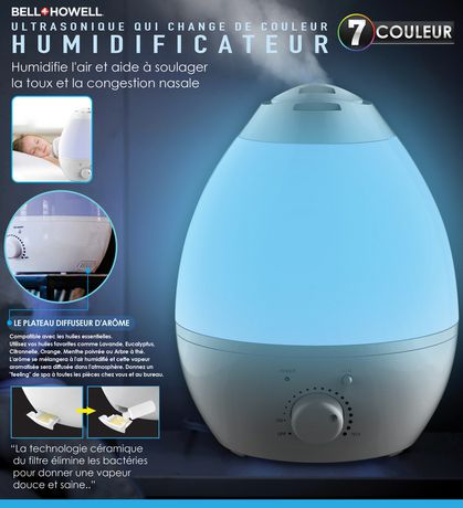 Bell Howell Ultrasonic Color Changing Humidifier Walmart Ca