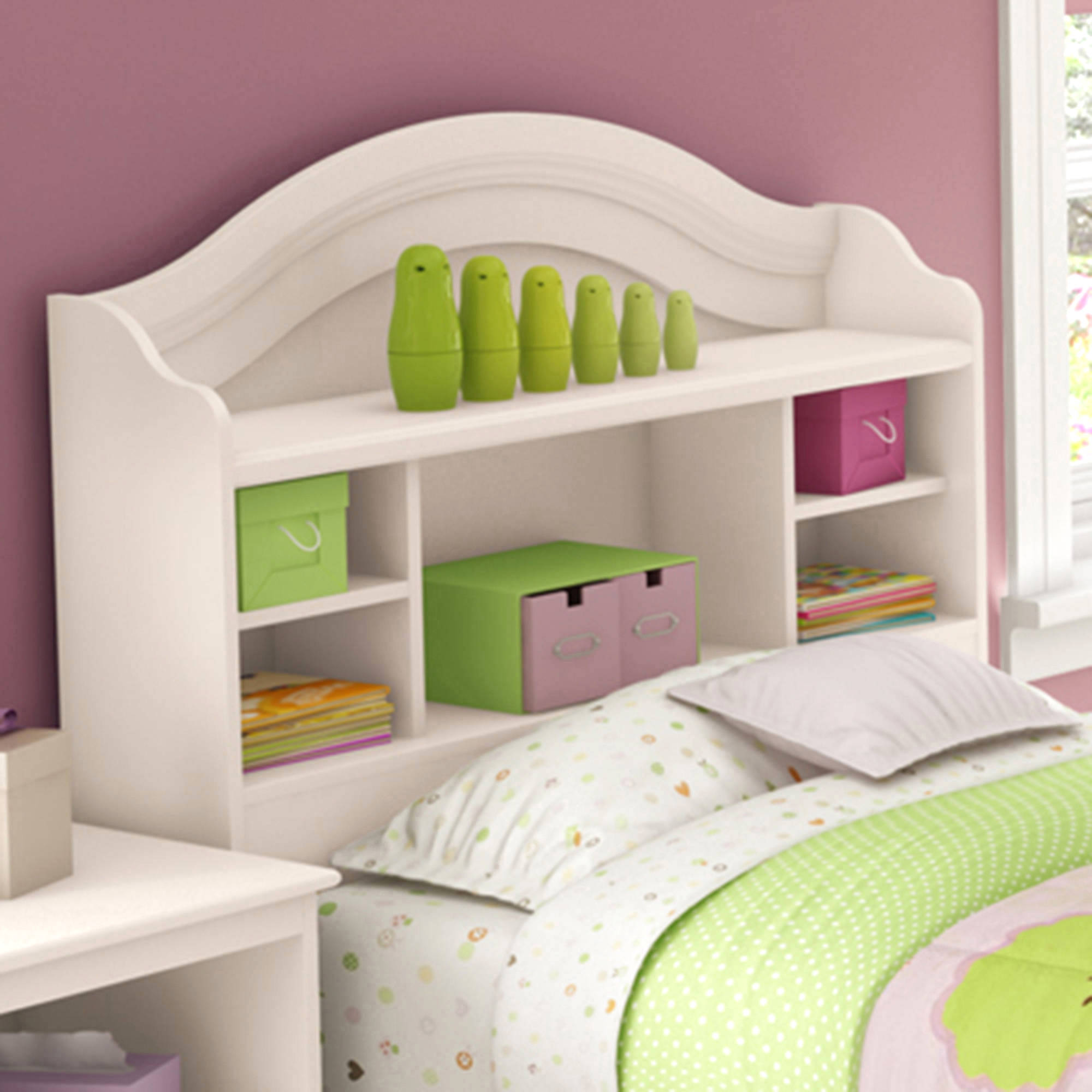 Twin Bed with Bookcase Headboards South Shore Savannah Twin Bookcase Headboard  39    Multiple Finishes
