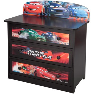 Disney Pixar Cars 3 Drawer Dresser   Walmart com Disney Pixar Cars 3 Drawer Dresser